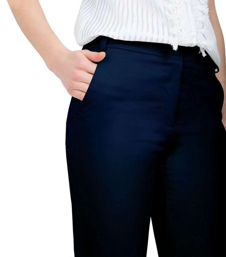 Navy μπλε παντελόνι (μεγέθυνση)