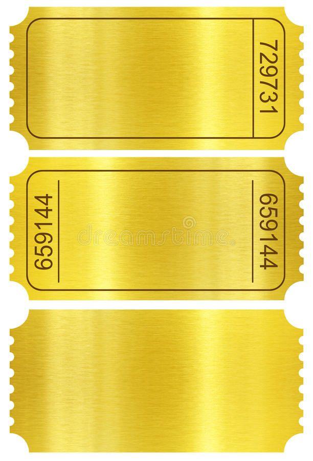 Ticket Set Golden Ticket Stubs Isolated On White Ticket Set Golden Ticket Stu Spo Ticket Stub Invitations Ticket Party Invitations Golden Ticket Template