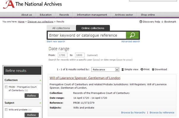 Hints & Tips Fourteen: Finding and Downloading PCC Wills from the National Archives Website - Society of Genealogists