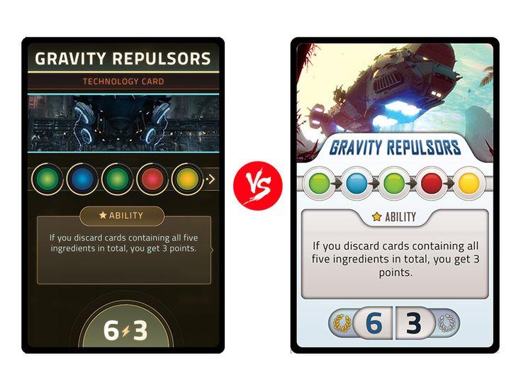 Cards design decisions