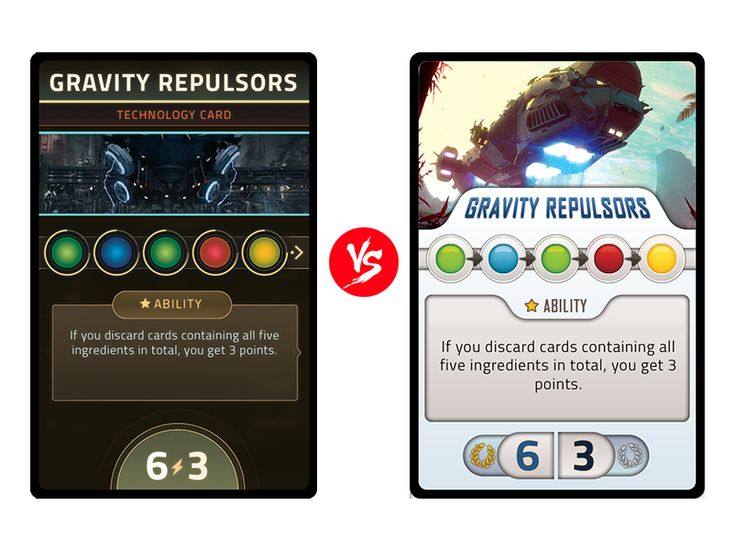 Cards design decisions
