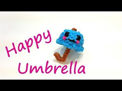 Happy Umbrella Tutorial by feelinspiffy (Rainbow Loom) - YouTube