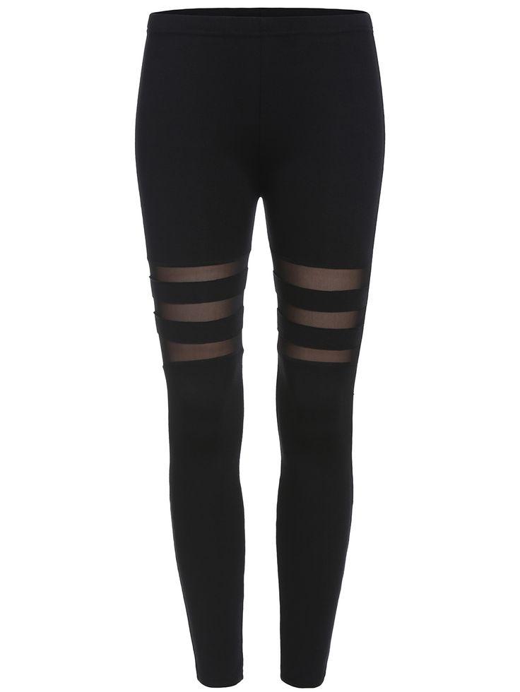 Black Skinny Sheer Mesh Leggings , High Quality Guarantee!