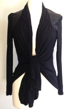 Living Doll black soul drape top $59.95 | threads and style