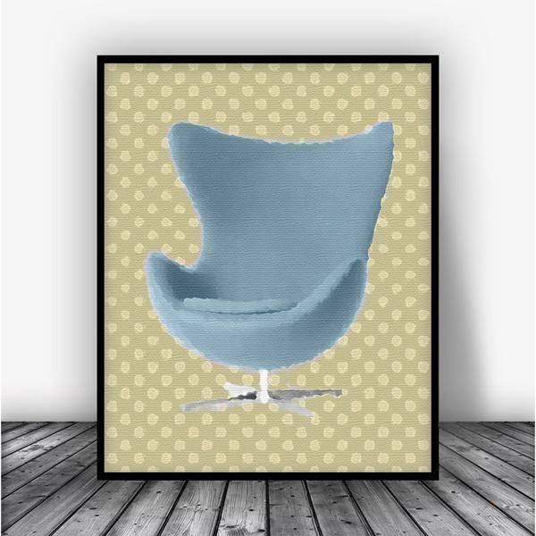 Arne Jacobsen Egg Chair Watercolor Art Print Poster. This eye- & 13 best DESIGNER CHAIRS | CZ images on Pinterest | Art print Art ...