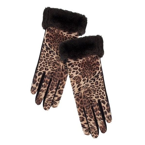 Pia Rossini Zoey Glove ($25) ❤ liked on Polyvore featuring accessories, gloves, nude and neutrals, animal print gloves, wool lined gloves, woolen gloves, wool gloves and lined gloves