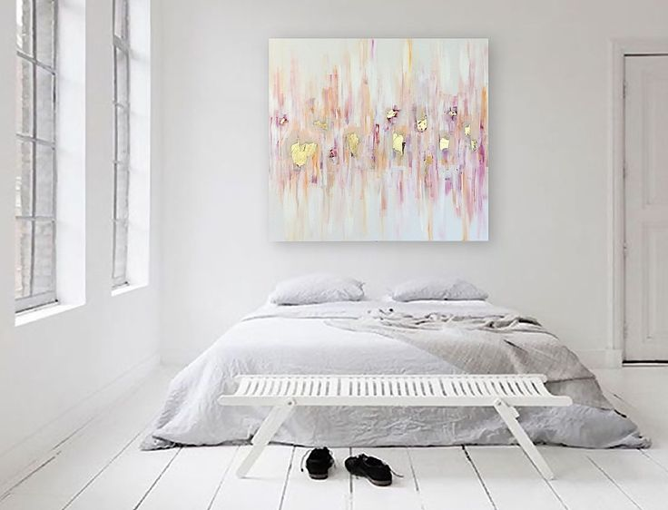 "'SOJOURN' original abstract painting by Linnea Heide - 36""x36"" acrylic on canvas with gold leaf accents"