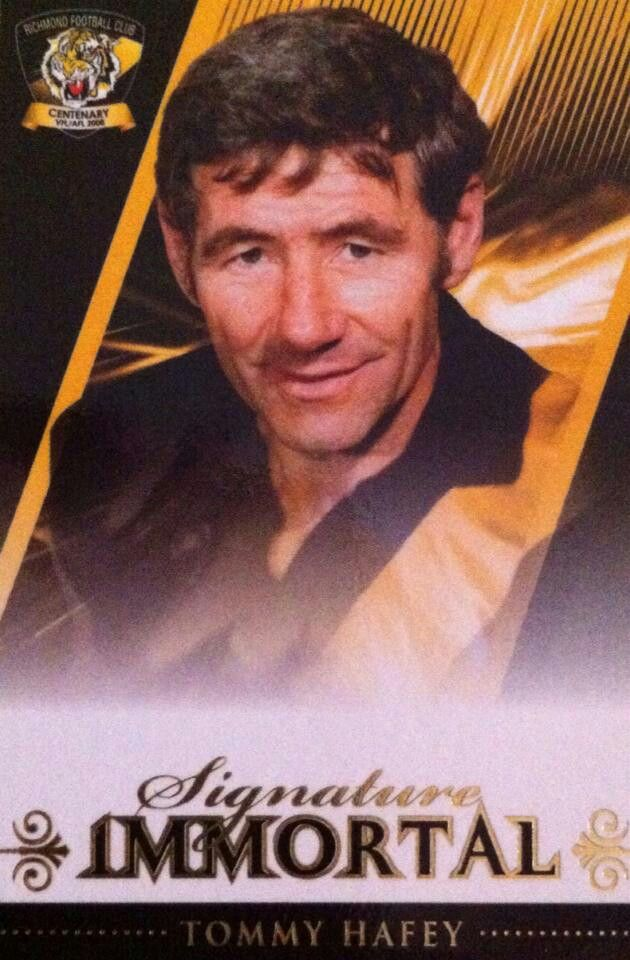 Tom Hafey, Richmond legend. RIP