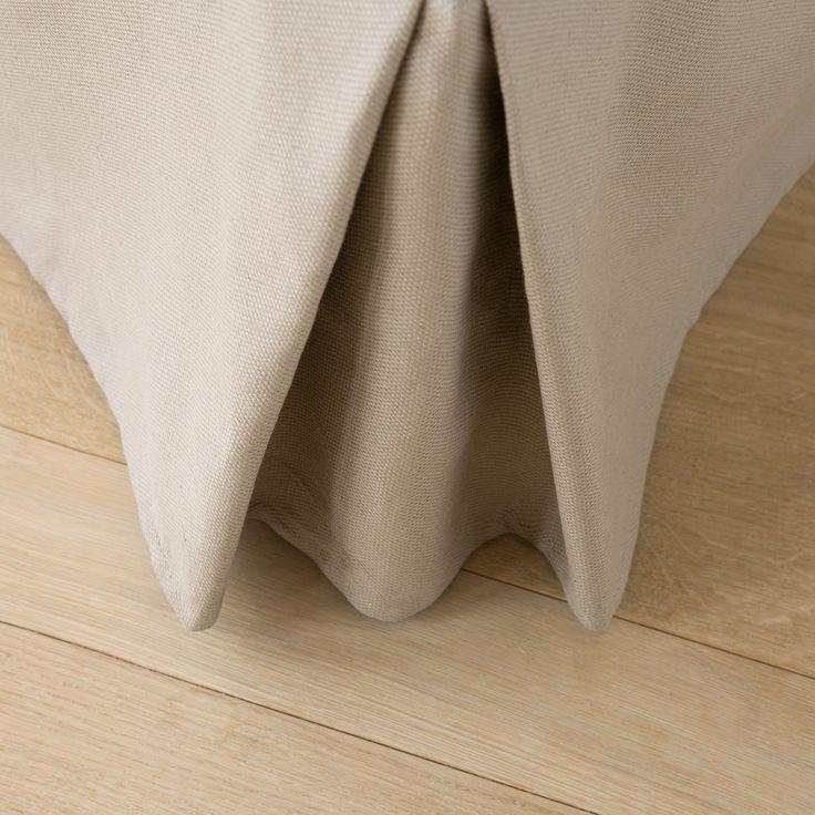 Cache-sommier coton beige couleur naturelle - Cache-Sommiers & Protection…
