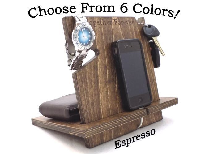Personalized Boyfriend Gift, Anniversary Gifts For Boyfriend, Gift For Him, Wood Docking Station, Gift For Husband, iPhone Accessories by PalmettoWoodShopLLC on Etsy https://www.etsy.com/listing/226301992/personalized-boyfriend-gift-anniversary