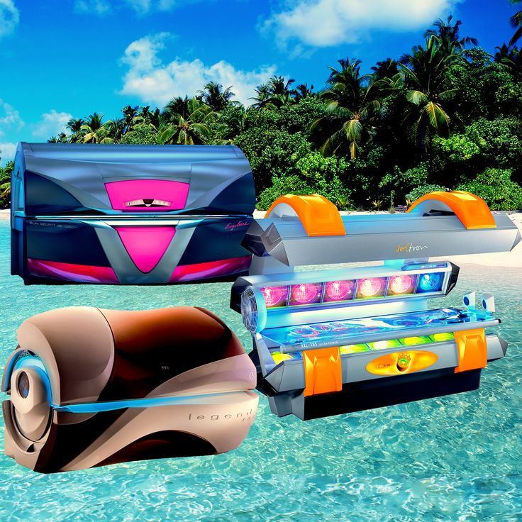 Set sail to a new world of tanning with Ergoline, Soltron, and ETS equipment! #tanningbed