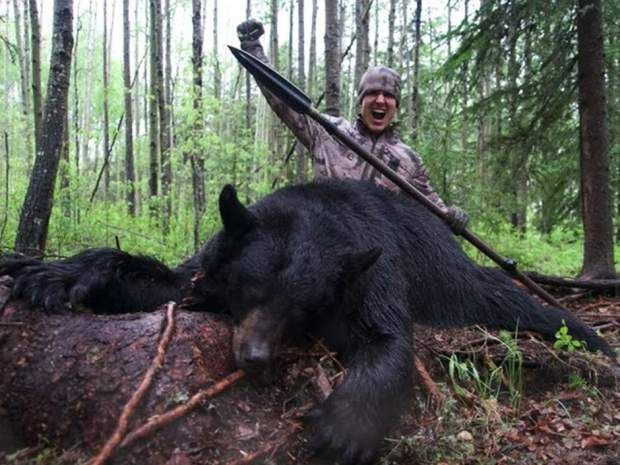 A YouTube video posted on June 5,2016 shows American hunter Josh Bowmar spearing…