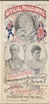Thumbnail - [Celebrations - Federation 1901 : programs and invitations ephemera material collected by the National Library of Australia]
