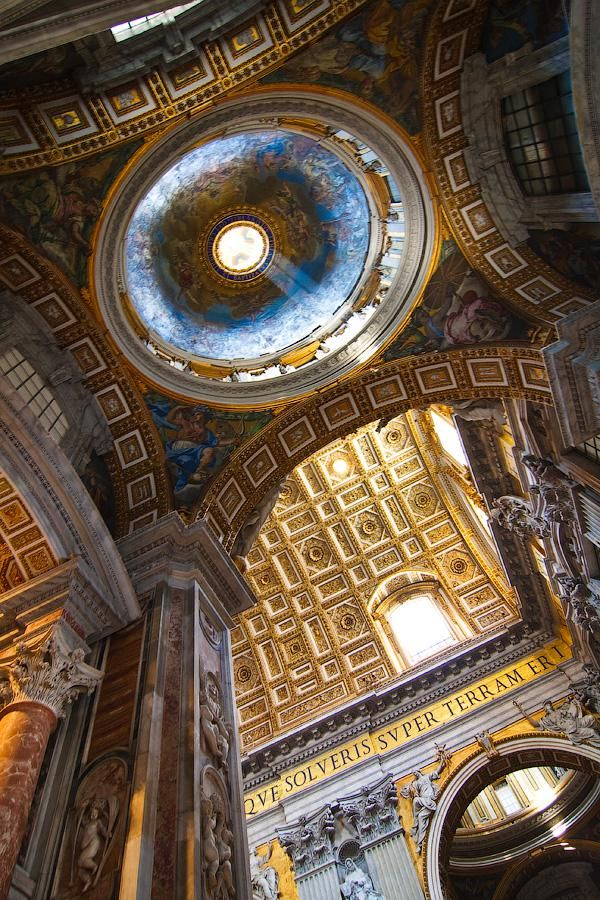 St. Peter's Basilica Interior view History Pinterest