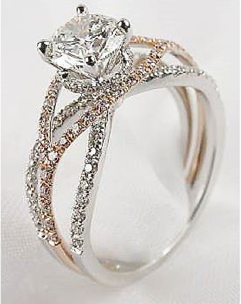 OMG....LOVE THE ROSE GOLD BLENDED IN WITH THE WHITE GOLD <3