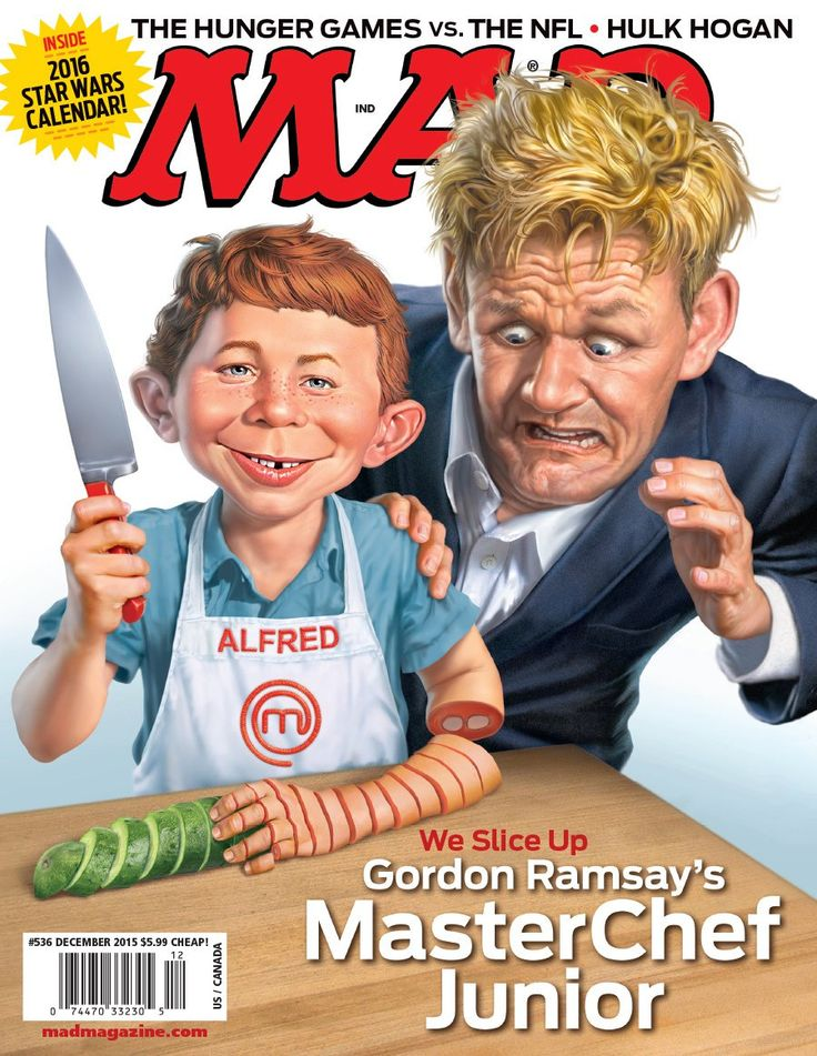 MasterChef Junior na Revista MAD - http://superchefs.com.br/masterchef-junior-na-revista-mad/ - #GordonRamsay, #MADMagazine, #Noticias