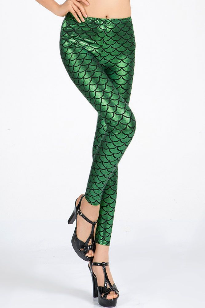 Scales Leggings Vert Fonce Metallise Pas Cher www.modebuy.com @Modebuy #Modebuy #CommeMontre #sexy #me #likes4likes