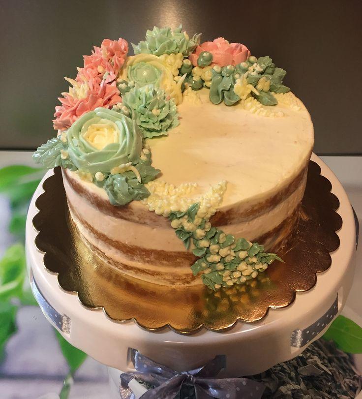 2018/03/10 buttercream flowers cake