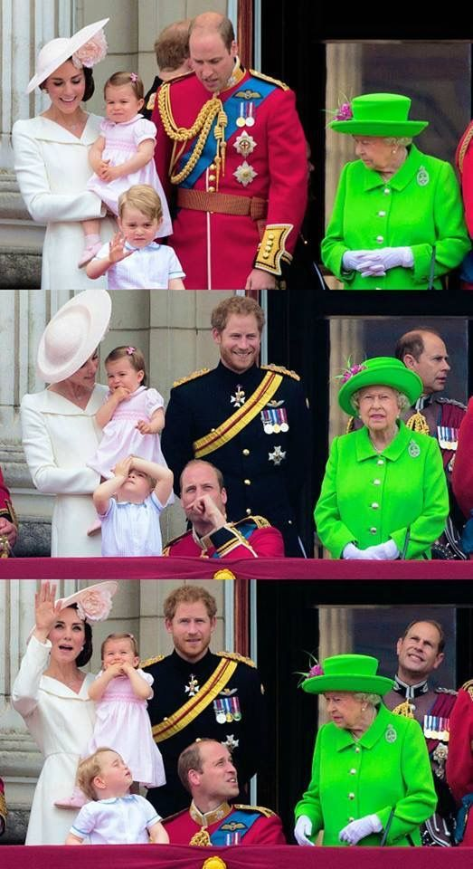 Royal family celebrates trooping the colour on the balcony for Queen elizabeth balcony