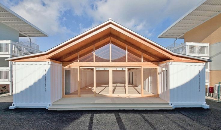 Onagawa Temporary Container Housing Amp Community Centre For