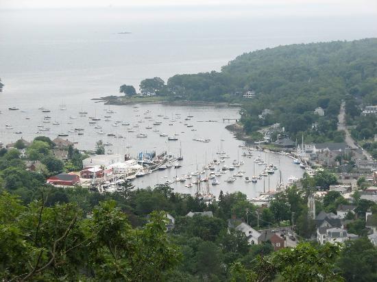 View of Camden, Maine from Mount Battie.