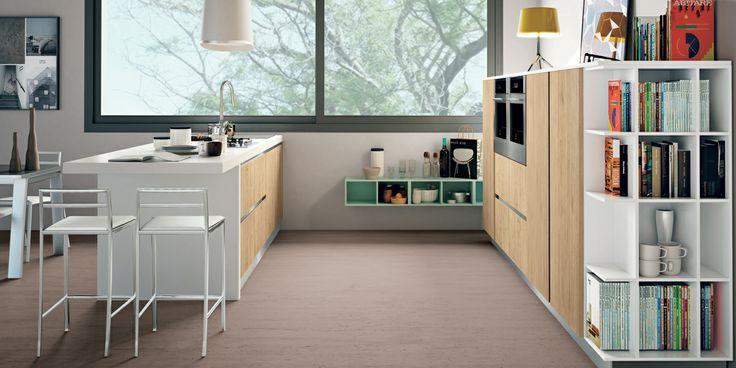 Uno stile senza maniglia per #cucine e #living giovani e moderne #CREO #home #casa #arredamento
