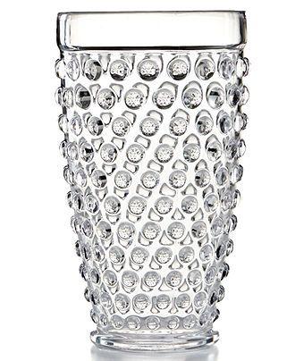 martha stewart collection acrylic hobnail clear highball glass glassware u0026 stemware dining u0026