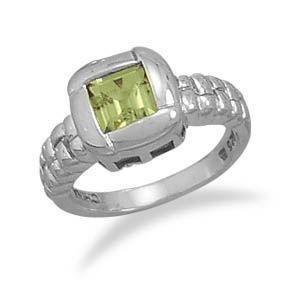 Peridot Overlap Ring