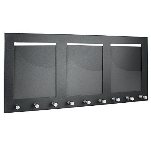 HMF - Colgador para llaves (con 3 marcos de fotos y 9 ganchos para llaves), color negro HMF http://www.amazon.es/dp/B00BEE4ZJ8/ref=cm_sw_r_pi_dp_R9tzwb1GYDKP0