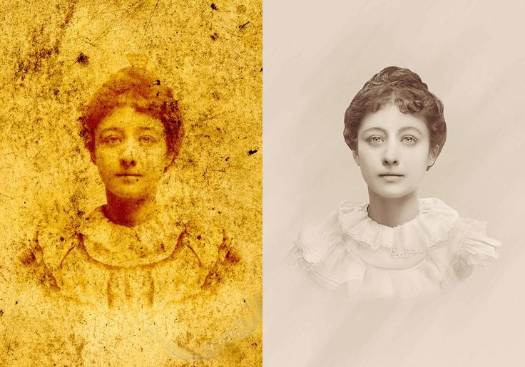 Photo Restoration  Extensive  Stain Removal (Tutorial )