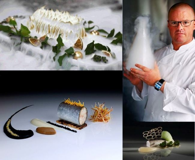 Eat some wacky food at one of Heston Blumenthal restaurants