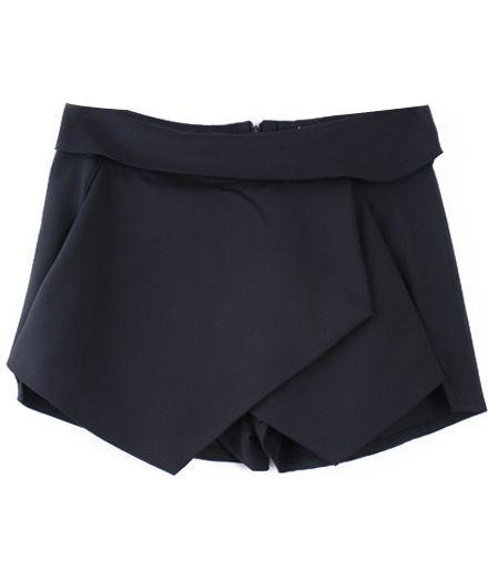 Short asimétrico-Negro EUR€21.71