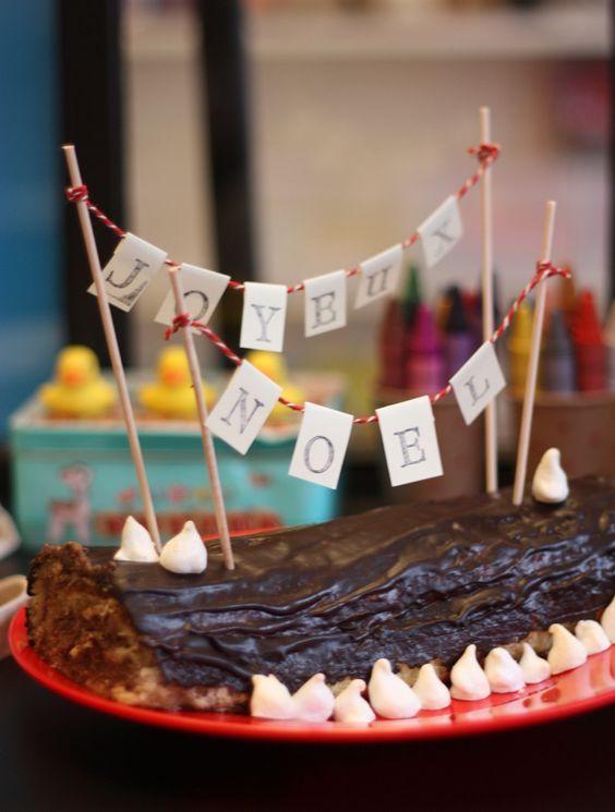 une inscription sur un gâteau...:
