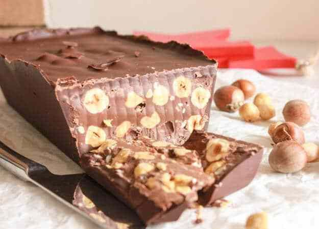 Chocolate Torrone, an easy Italian Christmas candy, creamy, decadent, chocolatey,and full of hazelnuts. A delicious new Christmas Tradition.
