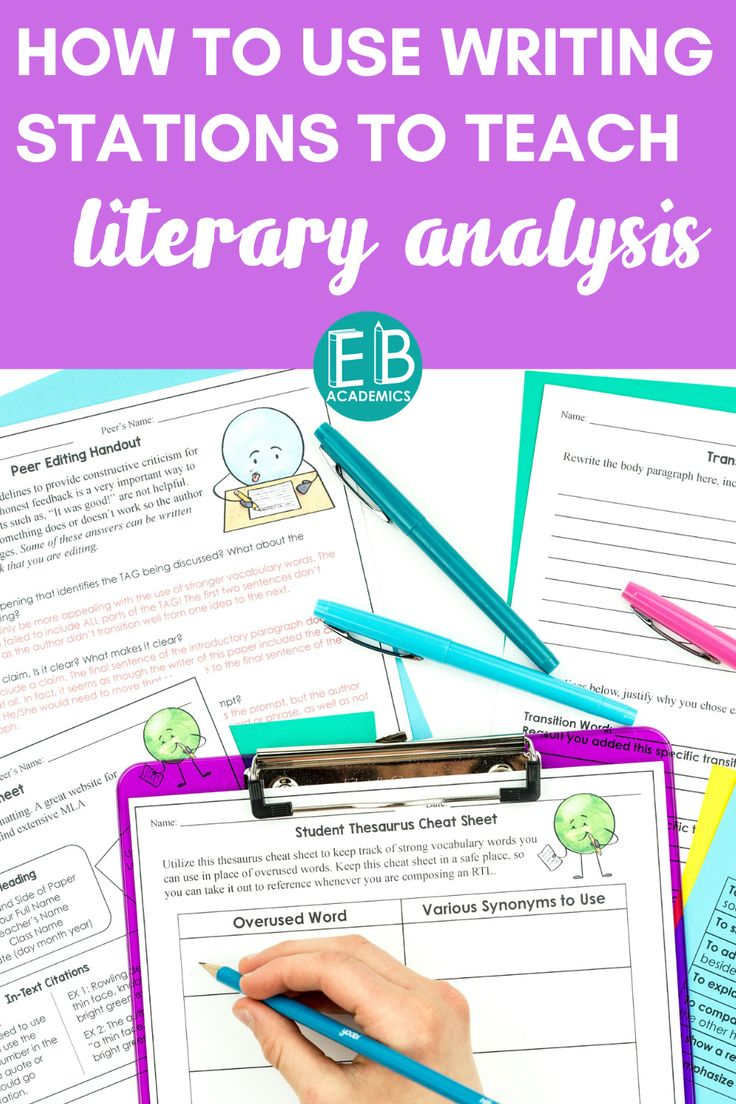 How to Use Writing Stations to Teach Literary Analysis in