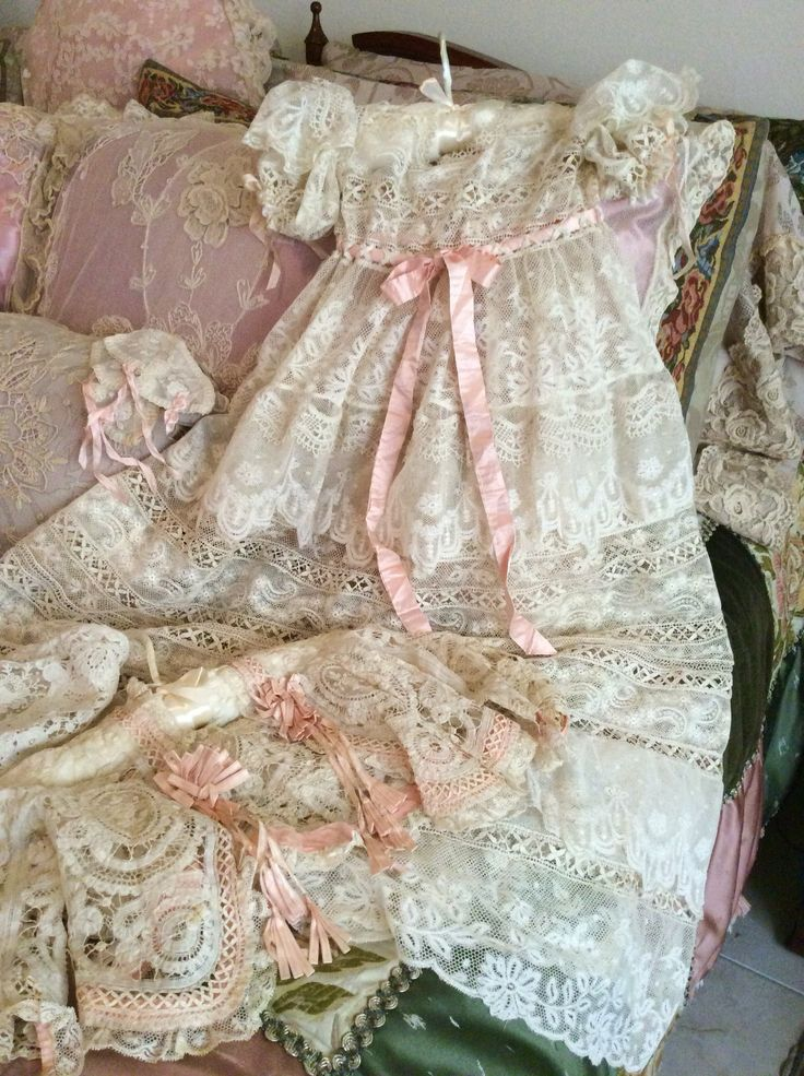 Lace Passion! Complete outfit in mixed antique laces; so much delight when I did it!!