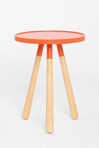 Tripod Table, Orange   Modern   Side Tables And Accent Tables   By Urban  Outfitters