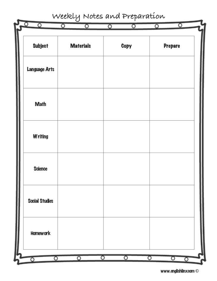 single subject lesson plan templates
