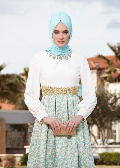 5073 Jakar Tesettür Abiye Elbise