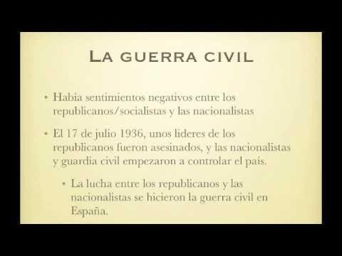 La Guerra Civil y Mariposas