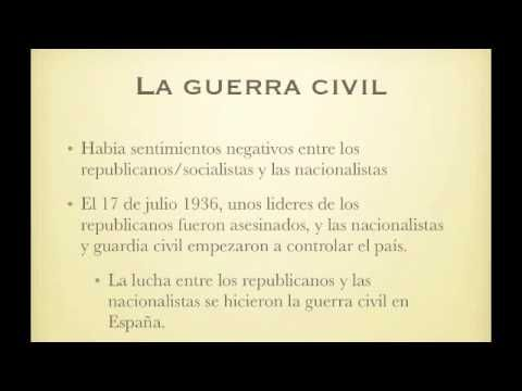 La Guerra Civil y Mariposas