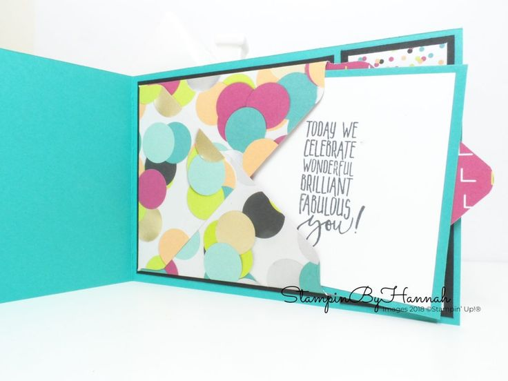How to dress up the inside of your cards using Designer Series Paper from Stampin' Up! #stampinbyhannah #stampinup #rubberstamping #papercraft