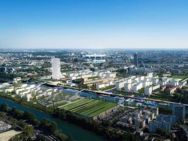 Le village olympique pour Saint-DenisPréféré à Paris, c'est le projet de la plaine Saint-Denis Pleyel qui accueillera l'ensemble des athlètes et des membres de staffs. Au moins 17 000 lits seront mobilisés. Ce projet pouvait s'appuyer sur son poit fort : sa proximité avecla Seine.