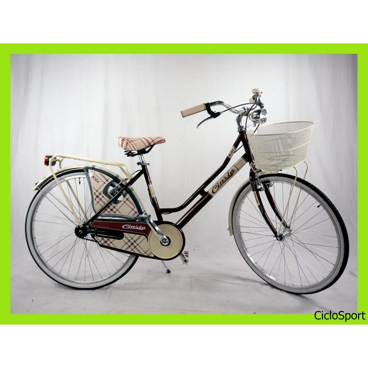 Beau Bicicletta Cinzia City Bike Kilt De Luxe 26 Donna   Acciaio   Amaranto
