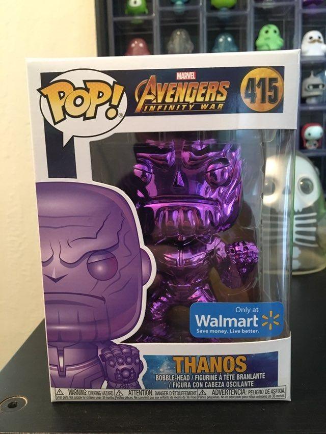 Avengers 3: Infinity War NEW Thanos Purple Chrome US Exclusive Pop Vinyl