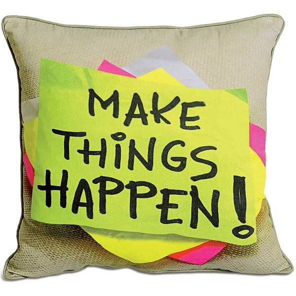 Make things happen- kids cushion cover by swayam