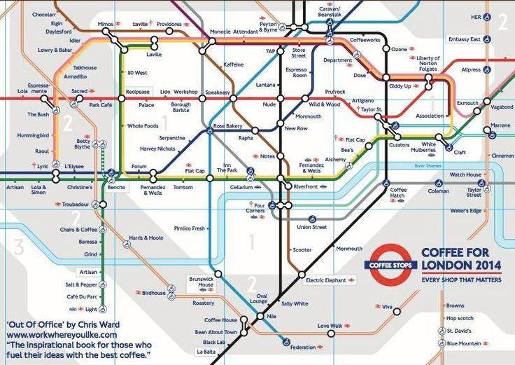Coffee tube map