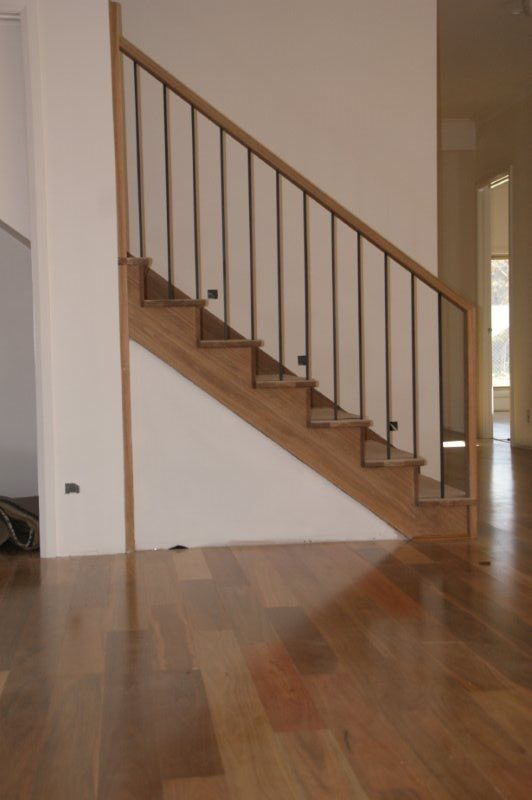SPOTTED GUM - Timber installed on the stairs can be tricky but using a professional installer can ensure your floors will look amazing