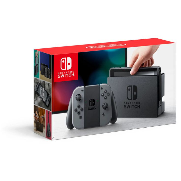 """ORIGINAL Nintendo Switch Gaming Console with Gray Joy-Con Christmas gift for him Nintendo Switch Gaming Console with Gray Joy-Con Video Games Nintendo Switch Nintendo Switch ConsolesNintendo Switch System with Gray Joy-Con:The newest Nintendo consolePlay with family and friends on your TV while the Switch is resting in the dockRemove the Switch from its dock at any time to transition to mobile playEnjoy gaming on the go with the Nintendo Switch's 6.2"""" capacitive touchscreenThe versatile Joy…"""