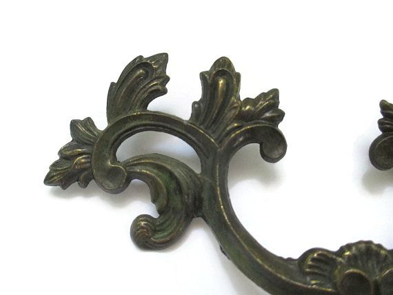 Vintage French Provincial Drawer Pull 2 Inch Centers French